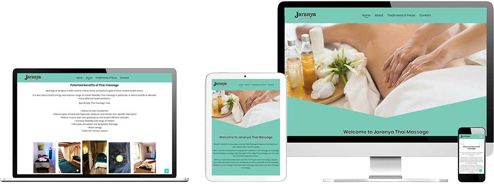 Website case study for Thai Massage company in Essex