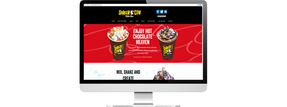 Shaken Cow website home page