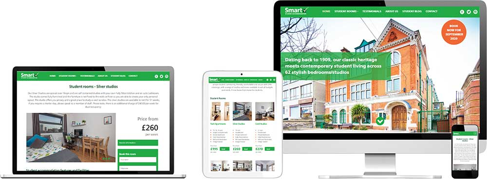Smart Student Accommodation home page