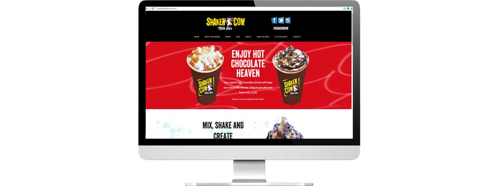Website case study for milkshake shop chain Website Snap