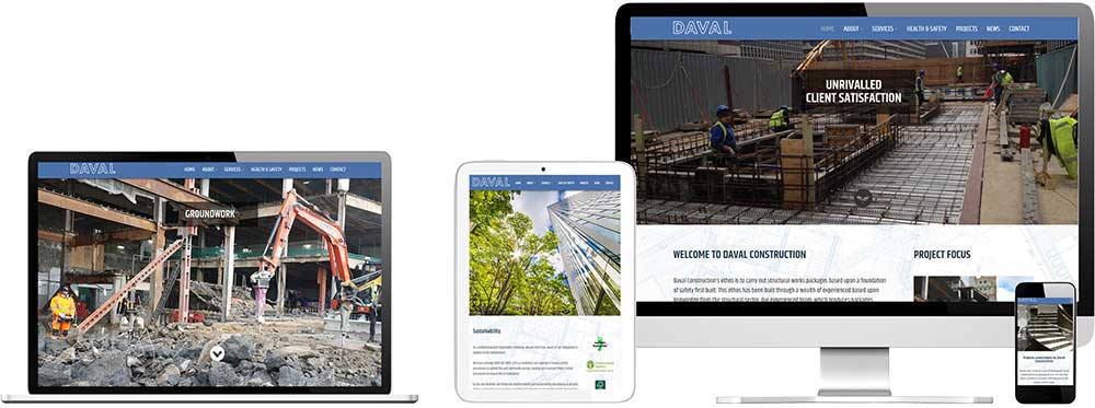 Website case study for construction company Website Snap